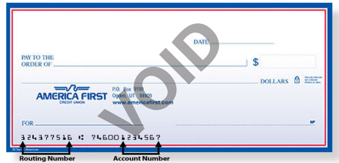 Routing Number - America First Credit Union